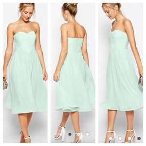ASOS sweetheart Neckline Chiffon Dress. SiZe 6